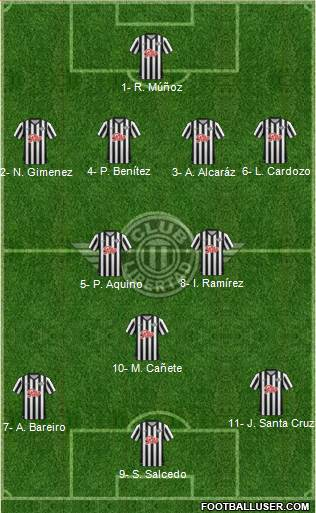 C Libertad 4-2-3-1 football formation
