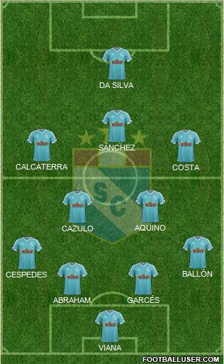 C Sporting Cristal S.A. 4-5-1 football formation