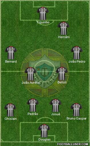 Varzim Sport Clube 4-4-2 football formation