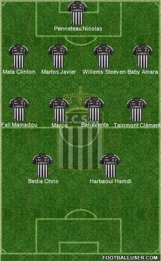 Sporting du Pays de Charleroi 4-4-2 football formation