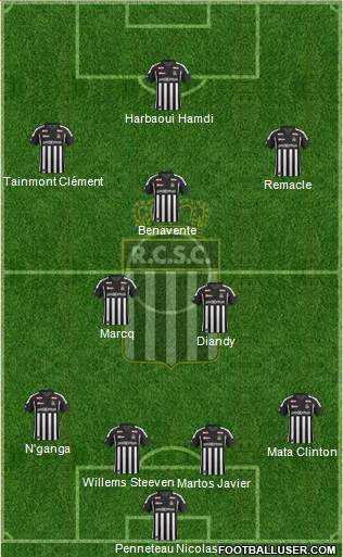 Sporting du Pays de Charleroi 4-3-2-1 football formation