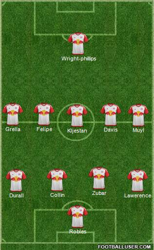 New York Red Bulls 4-5-1 football formation