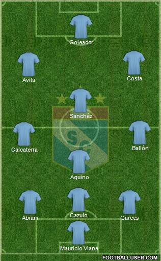 C Sporting Cristal S.A. 3-4-1-2 football formation