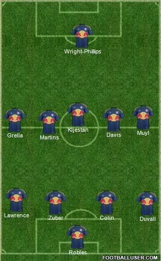 New York Red Bulls 4-2-3-1 football formation