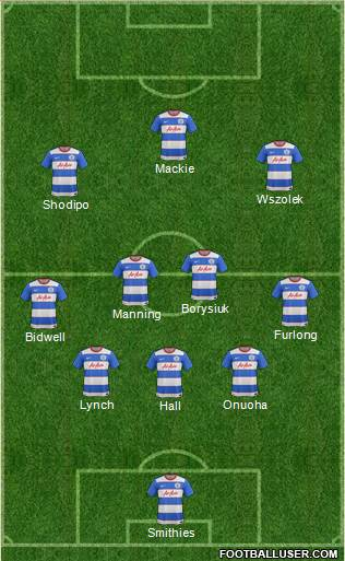 Queens Park Rangers 5-3-2 football formation