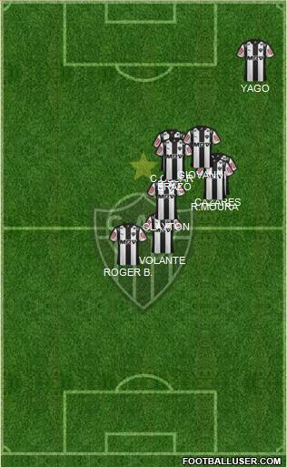 C Atlético Mineiro 4-5-1 football formation