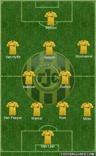 Roda JC 4-2-3-1 football formation