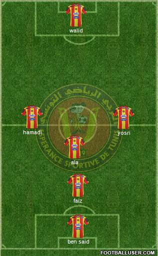 Espérance Sportive de Tunis 3-5-1-1 football formation