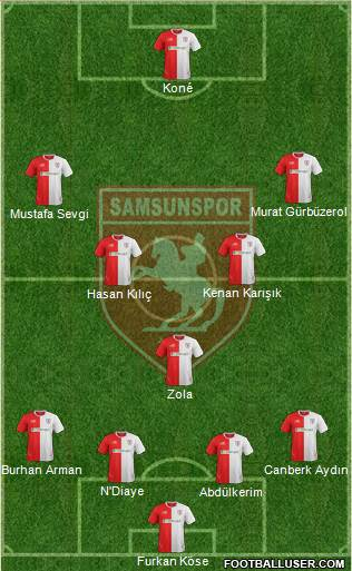 Samsunspor 3-5-1-1 football formation
