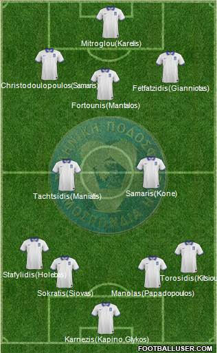 Greece 4-2-1-3 football formation