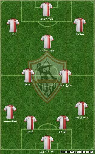 Zamalek Sporting Club 4-2-3-1 football formation