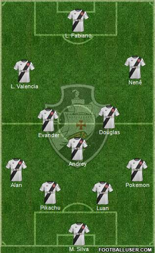 CR Vasco da Gama 4-3-2-1 football formation