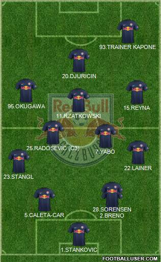 FC Salzburg 4-5-1 football formation