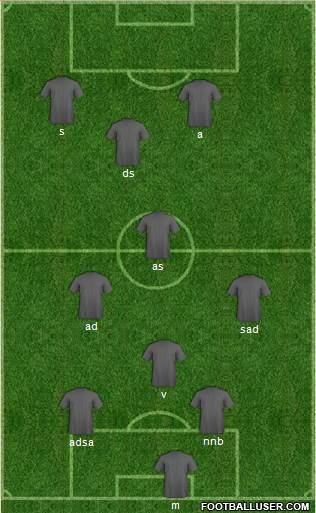 Euro 2012 Team 4-2-4 football formation