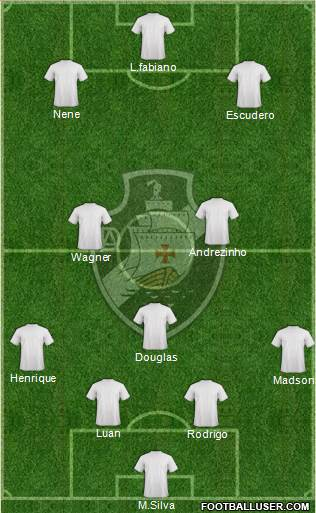 AD Vasco da Gama 4-3-2-1 football formation