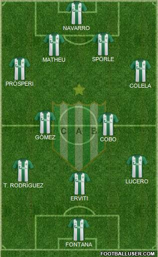 Banfield 4-4-1-1 football formation