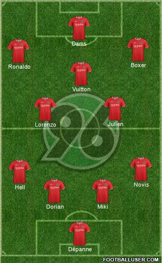 Hannover 96 4-3-3 football formation