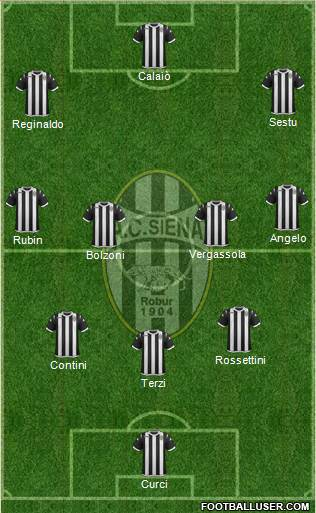 Siena 3-4-3 football formation