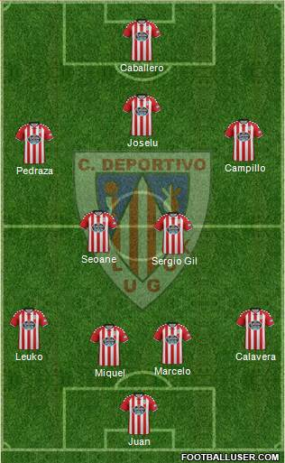 C.D. Lugo 4-2-3-1 football formation