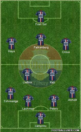 Willem II football formation