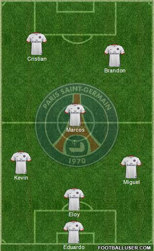 Paris Saint-Germain 3-5-1-1 football formation