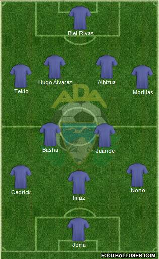A.D. Alcorcón 4-5-1 football formation