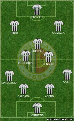 Ascoli 4-3-3 football formation