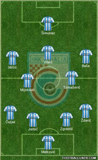 HNK Cibalia 4-2-3-1 football formation