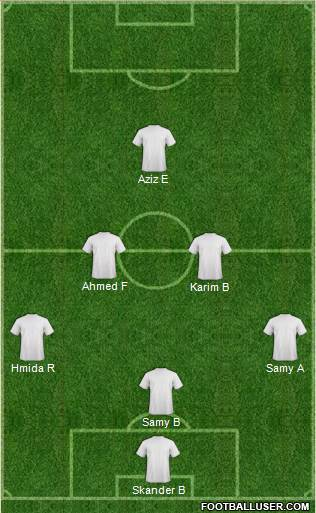 Euro 2012 Team 3-5-1-1 football formation
