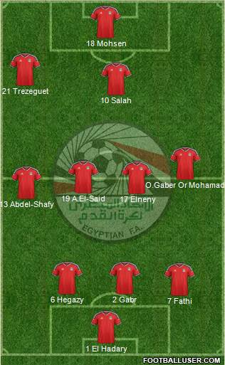 Egypt 3-4-2-1 football formation