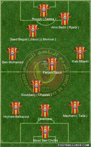 Espérance Sportive de Tunis football formation
