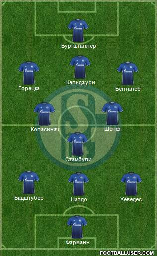 FC Schalke 04 3-5-1-1 football formation