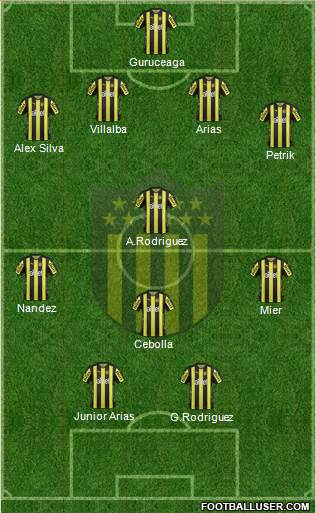 Club Atlético Peñarol 4-3-1-2 football formation