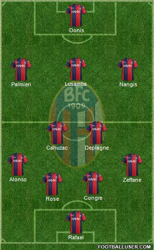 Bologna 4-5-1 football formation