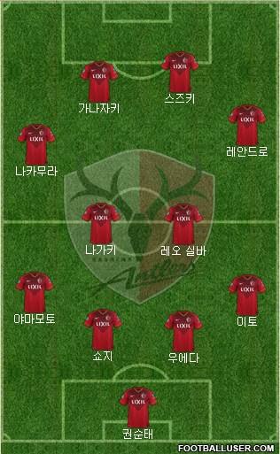 Kashima Antlers 5-3-2 football formation