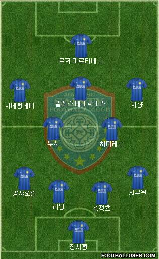 Jiangsu Shuntian 5-3-2 football formation