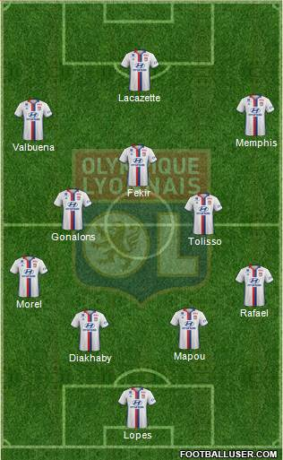 Olympique lyonnais france football formation for Formation decorateur interieur lyon
