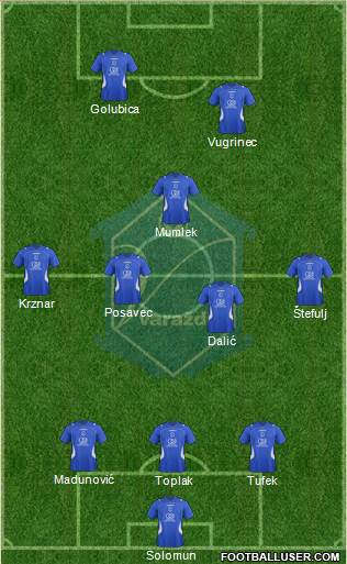 NK Varteks football formation