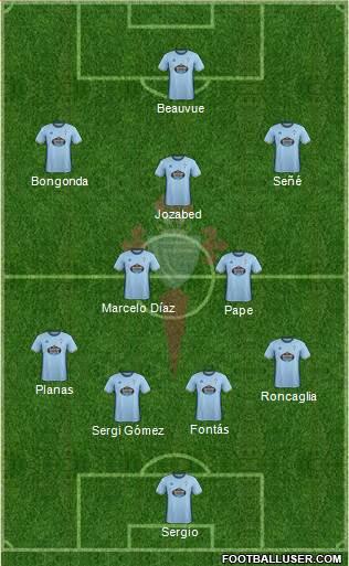 R.C. Celta S.A.D. 3-5-1-1 football formation