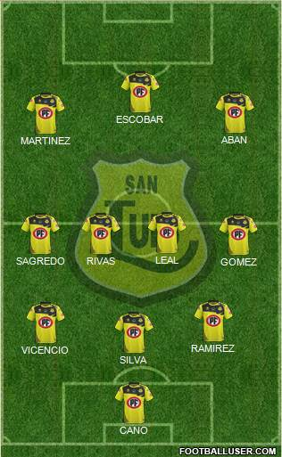 CD San Luis S.A.D.P. football formation
