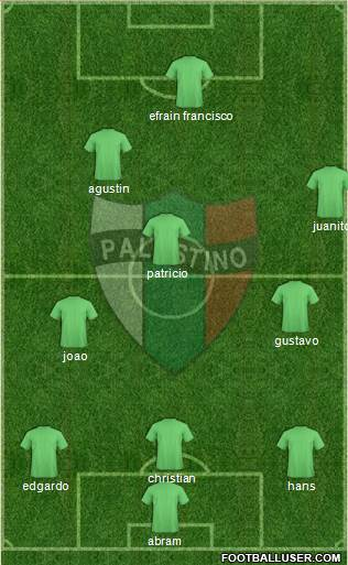 CD Palestino S.A.D.P. football formation