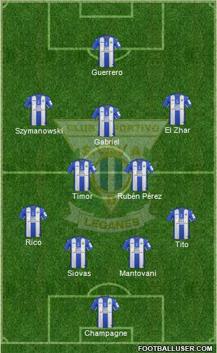 C.D. Leganés S.A.D. 3-5-1-1 football formation