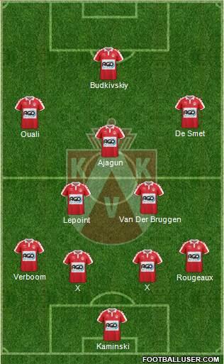 KV Kortrijk Voetbalt 4-2-3-1 football formation