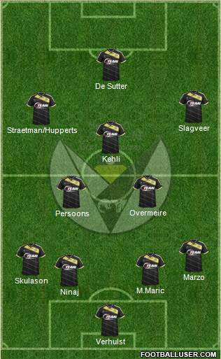 Sporting Lokeren OVl 4-3-2-1 football formation
