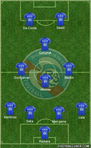 Racing Club de Strasbourg-Football 4-3-1-2 football formation