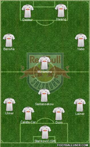 FC Salzburg 4-2-1-3 football formation