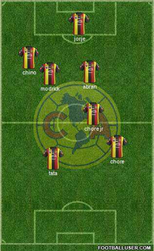 Club América Coapa 5-4-1 football formation