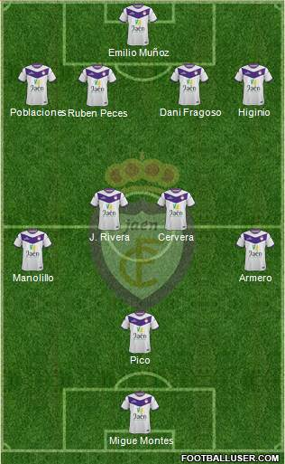 Real Jaén C.F. 4-3-2-1 football formation