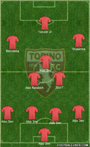 Torino 4-3-1-2 football formation