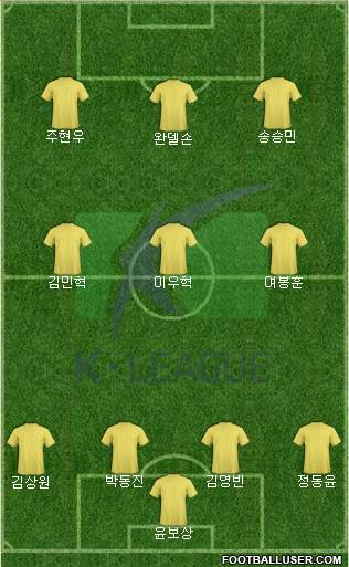 K-League All-Stars 4-3-2-1 football formation